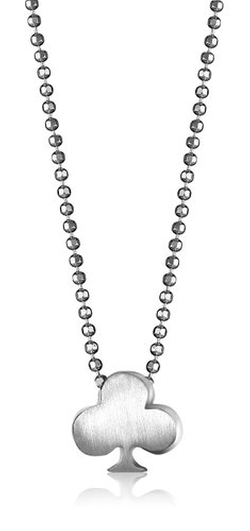 "Alex Woo - ""Little Vegas"" Sterling Silver Club Pendant Necklace"