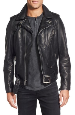 Schott NYC  - Perfecto Slim Fit Waxy Leather Moto Jacket
