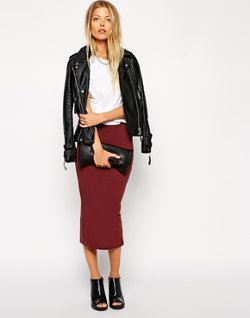 ASOS - Midi Pencil Skirt in Jersey
