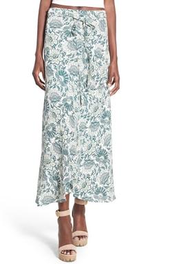Wayf - Floral Print Midi Skirt