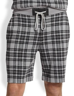 Marc by Marc Jacobs  - Travis Plaid Sweat Shorts
