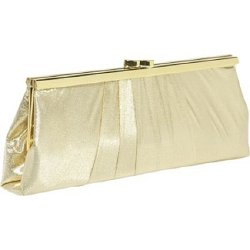 Carlo Fellini Viridiana - Lame Gold Clutch Bag