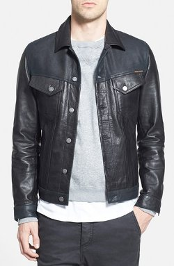 Nudie Jeans - Black Leather Jacket