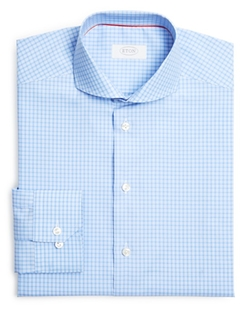 Eton of Sweden  - Check Regular Fit Dress Shirt