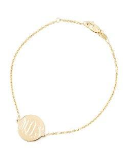 Sarah Chloe - Cara Monogrammed Circle Chain Bracelet