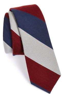 The Tie Bar - Wool & Silk Stripe Tie