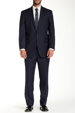 Kenneth Cole Reaction  - Pinstripe Two Button Notch Lapel Wool Suit