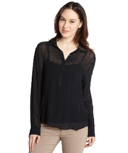 Sam - Sheer Silk Embroidered Blouse