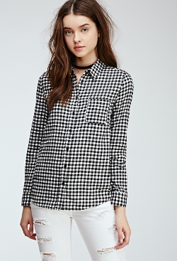 Forever 21 - Mini-Gingham Flannel Shirt