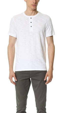 Vince - Short Sleeve Henley Shirt