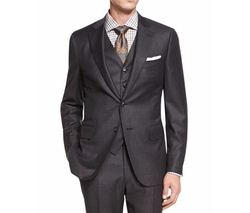 Isaia - Micro-Check Three-Piece Suit