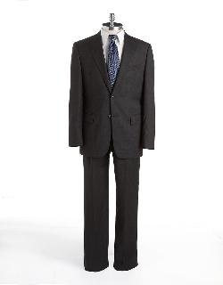 JOSEPH ABBOUD - Classic Fit Signature Silver Wool Suit