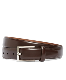 Brooks Brothers - Silver Buckle Leather Dress Belt