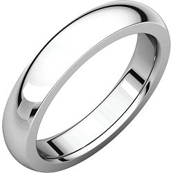 Goldia - White Gold Wedding Band
