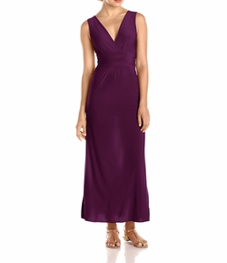 Star Vixen - V-Neck Surplice Maxi Dress