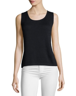 St. John - Contour Scoop-Neck Tank Top