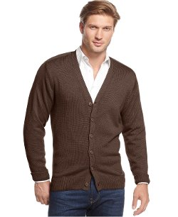 Tricots St. Raphael  - Solid V-Neck Cardigan