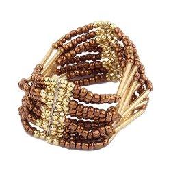 Viva  - Bohemian Beaded Bracelet Bangle
