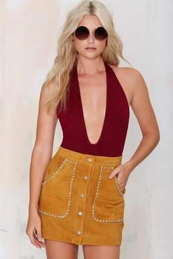 Nasty Gal  - Low Down Plunging Bodysuit