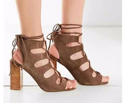 Jeffrey Campbell - Allow Lace-Up Heel Booties