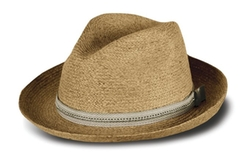 Tilley - Raffia Medium Brim Town Fedora Hat