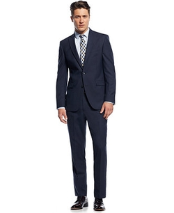 Kenneth Cole New York - Slim-Fit Blue Pinstriped Suit