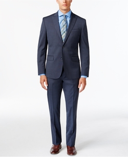 Kenneth Cole  - Peak Lapel Wool Suit