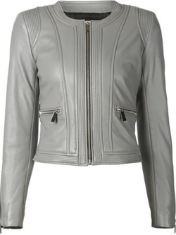 Barbara Bui - Zipped Leather Jacket