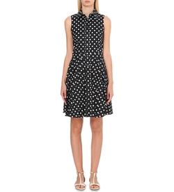 Michael Kors - Polka-dot stretch-cotton dress