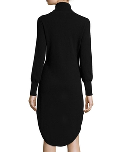 Neiman Marcus Cashmere Collection - Turtleneck High-Low Cashmere Dress