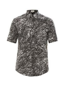 BALENCIAGA - Noise print short sleeve shirt