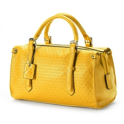 B-Collective By Buxton Gianna - Leather Embossed Satchel Bag