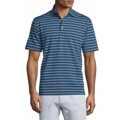 Peter Millar - Quarter-Striped Jersey Polo Shirt