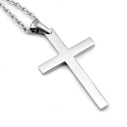 Sirius Jewelry  - Mens Crucifix Cross Stainless Steel Pendant Necklaces