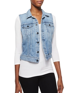 AG - Debbie Light-Wash Denim Vest