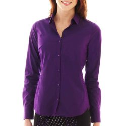Worthington  - Long-sleeve Button-front Shirt