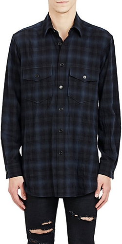 Saint Laurent  - Plaid Shirt