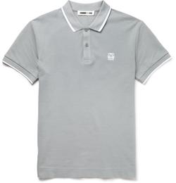 McQ Alexander McQueen  - Slim-Fit Cotton-Piqué Polo Shirt