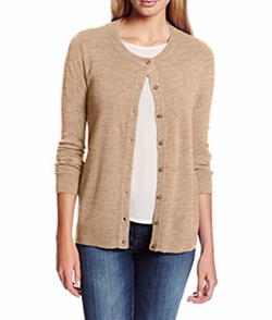 Sag Harbor - Cashmerlon Button-Front Cardigan
