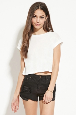 Forever 21 - Cuffed Crop Top