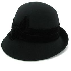 Belfry Hats - Velvet Band Cloche Hat