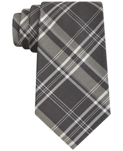DKNY - Oversized Plaid Slim Tie