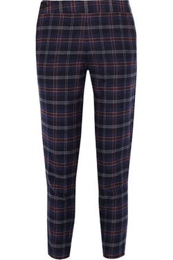Thakoon  - Plaid Cotton-blend Flannel Tapered Pants