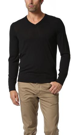 Theory  - Riland Merino V Neck Sweater