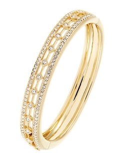 Nadri - Pave Hinged Bangle