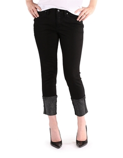 Jag - Evan Cropped Glitter-Cuff Jeans