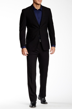 English Laundry  - Shadow Plaid Two Button Notch Lapel Suit