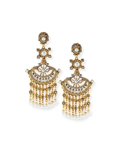 Jose & Maria Barrera - Pearlescent Chandelier Clip Earrings