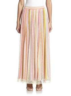 Missoni  - Multi-Stripe Knit Maxi Skirt