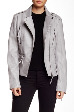 BNCI By Blanc Noir  - Vegan Leather Metal Jacket